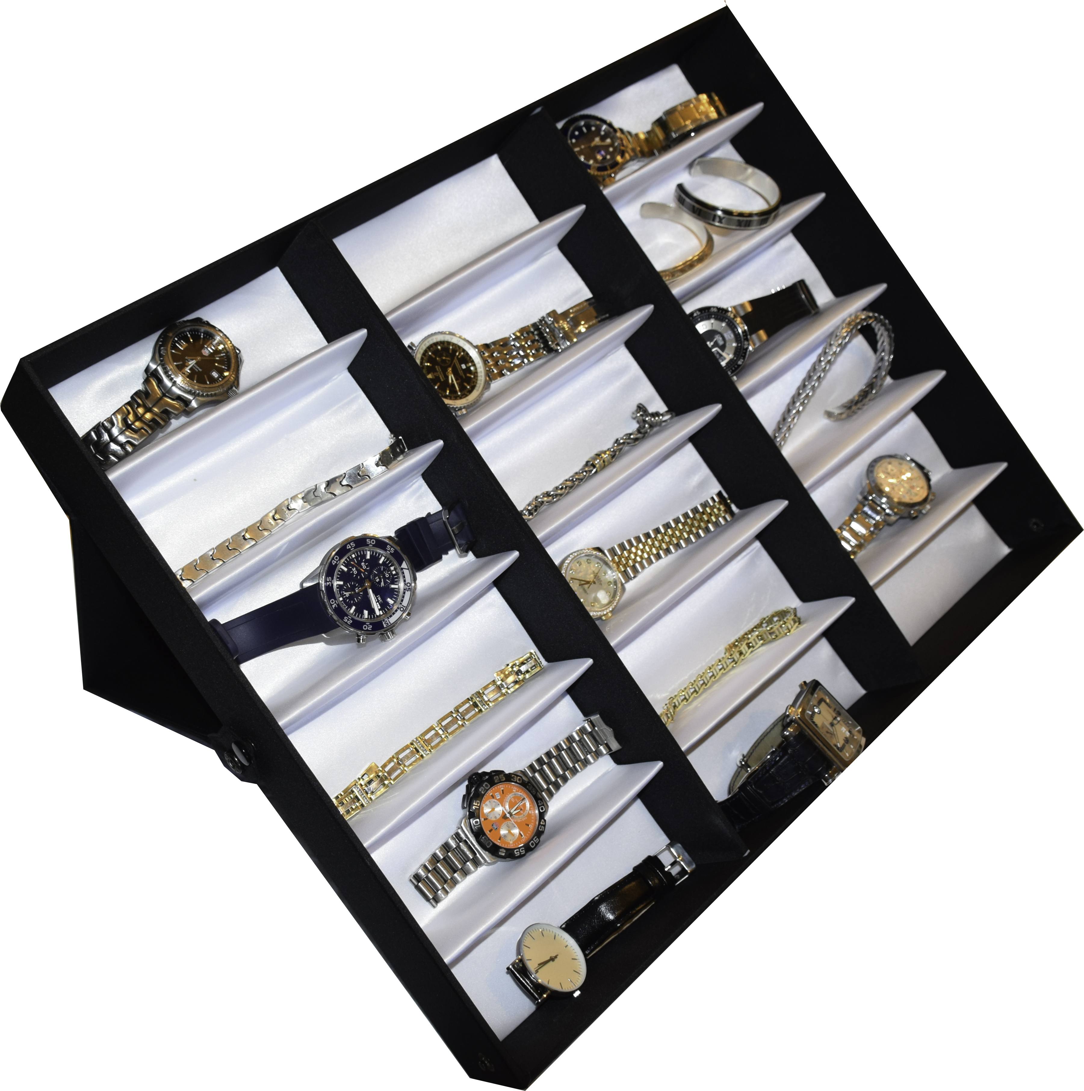 soleil 18-slot display case jewelry